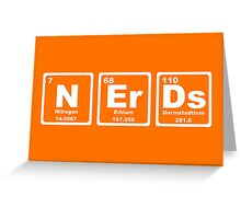 Nerds - Periodic Table Greeting Card