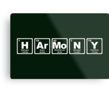 Harmony - Periodic Table Metal Print