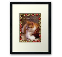 Where's Santa? Framed Print