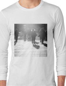 Pedestrians in Helsinki Long Sleeve T-Shirt