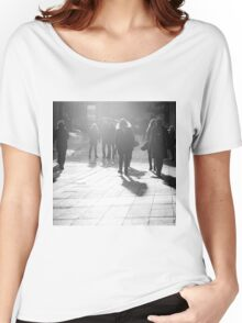 Pedestrians in Helsinki Women's Relaxed Fit T-Shirt