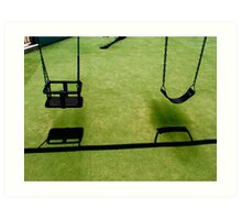 Swings Art Print
