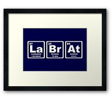 Lab Rat - Periodic Table Framed Print