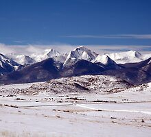 Snow Covered Sangres by Holly Werner