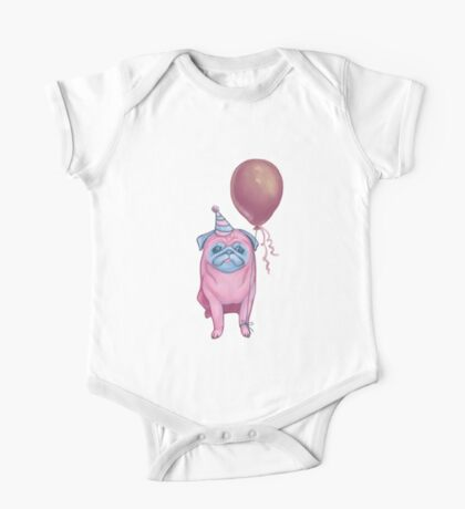 Party pug One Piece - Short Sleeve
