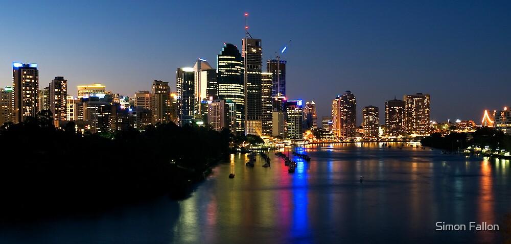 Brisbane Twilight by Simon Fallon