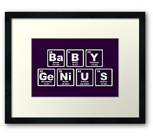 Baby Genius - Periodic Table Framed Print