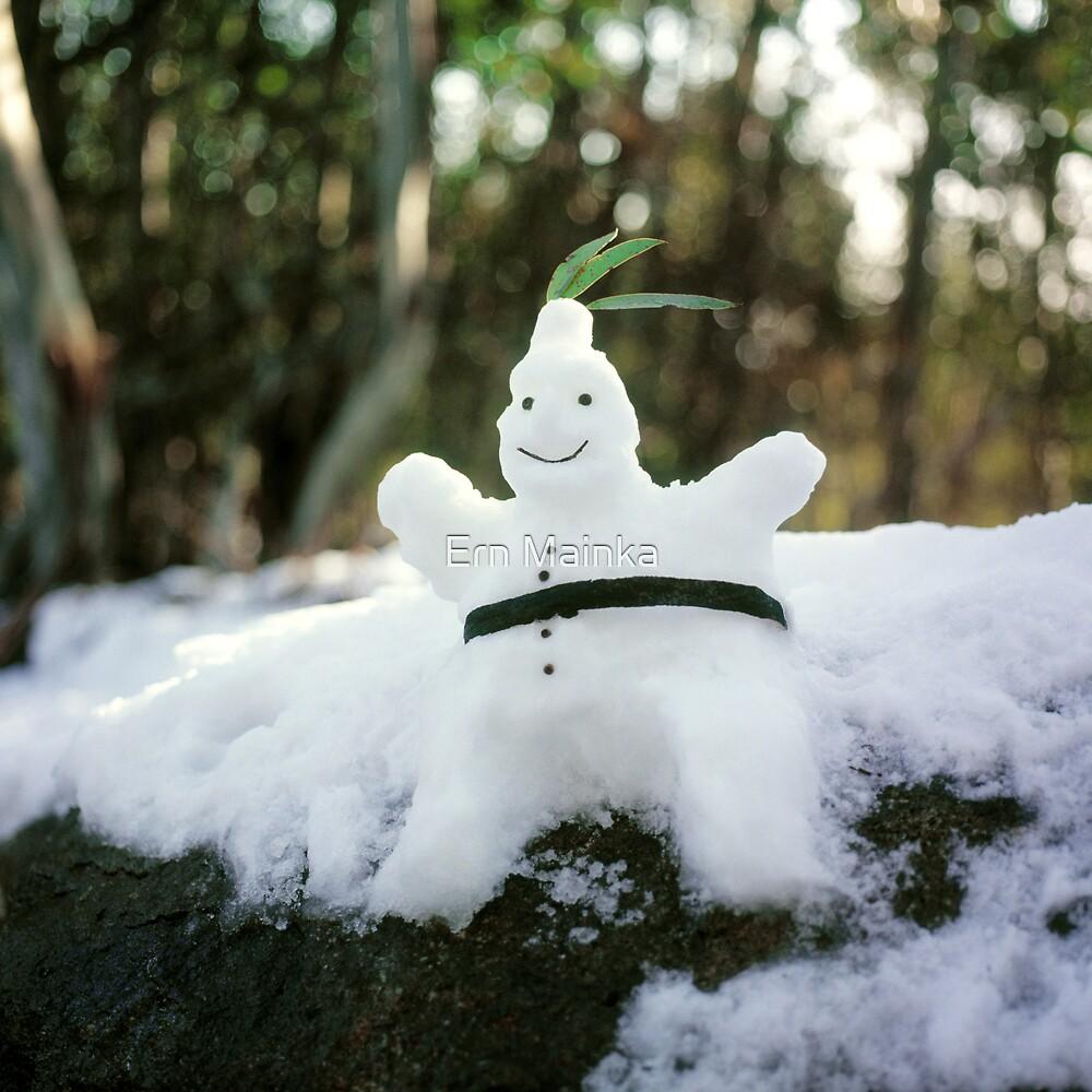 Snowman by Ern Mainka