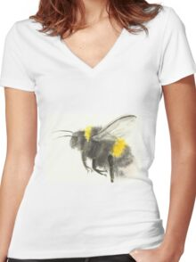 Mr Bumble Women's Fitted V-Neck T-Shirt