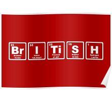 British - Periodic Table Poster
