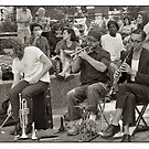 Musicians in Washington Park NY by Loredana Crupi