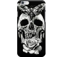 TATTOO - Butterfly on skull iPhone Case/Skin