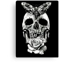 TATTOO - Butterfly on skull Canvas Print