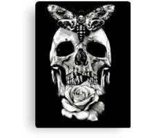 TATTOO - Butterfly on skull Canvas Print