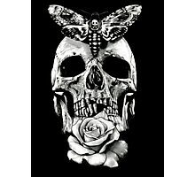 TATTOO - Butterfly on skull Photographic Print