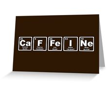 Caffeine - Periodic Table Greeting Card