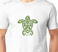 Green Tribal Turtle / Maui Unisex T-Shirt