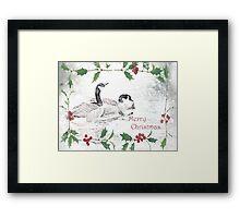 "Nostalgic Geese ""Merry Christmas"" ~ Greeting Card Framed Print"