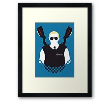 Here Come The Fuzz - Variant Framed Print