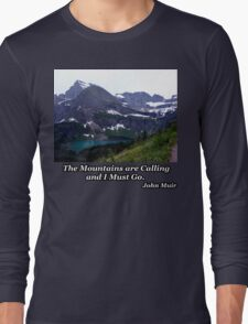 Grinnell Lake & Grinnell Glacier Long Sleeve T-Shirt