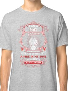 I am a May Gemini Women I was born with my heart on my sleeve Classic T-Shirt