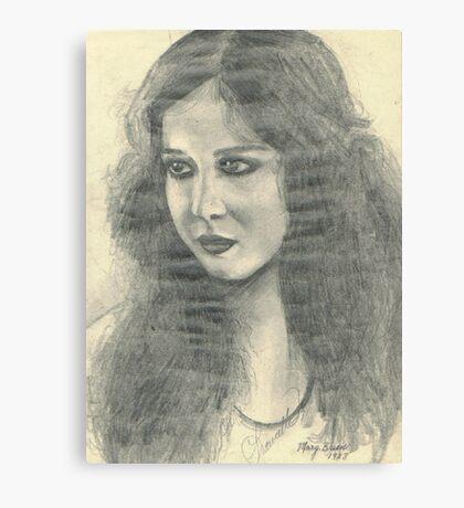 MARY BRIAN OLD MOVIE STAR Canvas Print