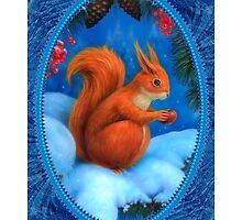 The Squirrel in winter by Ldarro