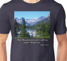 Deer Walking in the Lake Unisex T-Shirt