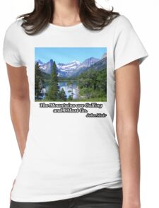 Deer Walking in the Lake Womens Fitted T-Shirt