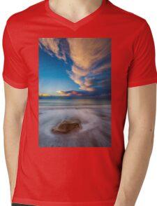 Little Rock Sunset Mens V-Neck T-Shirt