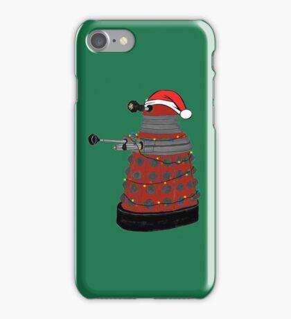 Festive Dalek. iPhone Case/Skin