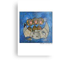Moon sailing Metal Print