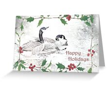 "Nostalgic Geese ""Happy Holidays"" ~ Greeting Card Greeting Card"