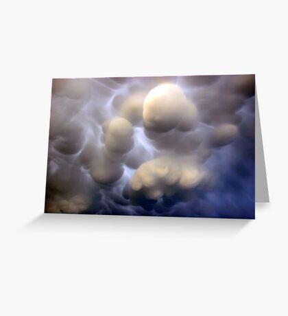 Mammatus clouds  Greeting Card