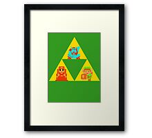 Triforce - The Legend Of Zelda Framed Print