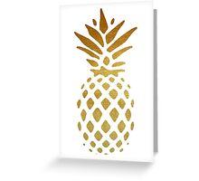 Golden Pineapple Greeting Card