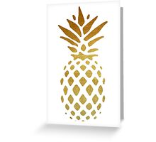 Golden Pineapple Greeting Card