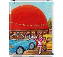 ROADSIDE ATTRACTION MONTREAL DRIVE-IN DINERS CANADIAN CITY SCENES PAINTINGS iPad Case/Skin