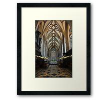 bristol cathedral, england Framed Print