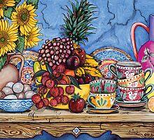 Rambutton, Eggs & Sunflower by Sarina Tomchin
