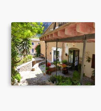 Eating Al Fresco In Deia..........................Majorca Canvas Print