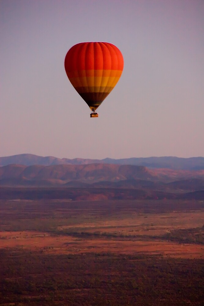 Floating over the desert by Marianne
