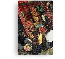 Grecian mobile greengrocer Canvas Print