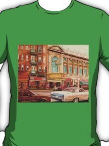 CANADIAN ART CANADIAN PAINTING FAMOUS MONTREAL RIALTO MOVIE THEATRE BY CANADIAN ARTIST CAROLE SPANDAU T-Shirt