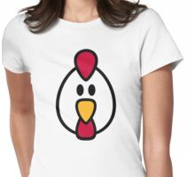 Chicken head face Womens Fitted T-Shirt