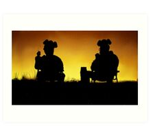 Breaking Bad Sunset Art Print