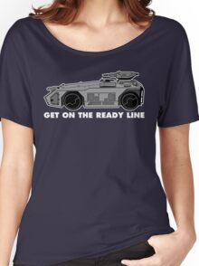 Get On The Ready Line (B&W) Women's Relaxed Fit T-Shirt