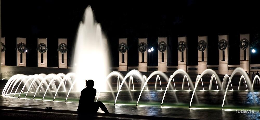 Ponder by the fountain by rudavis