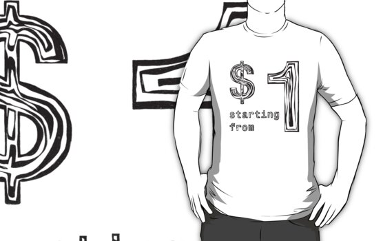 LINEart T-shirt : Starting from $1 by LINEart