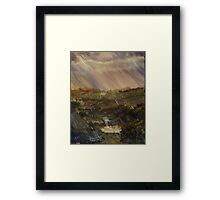 Rainstorm - God refreshing and cleaning the earth Framed Print
